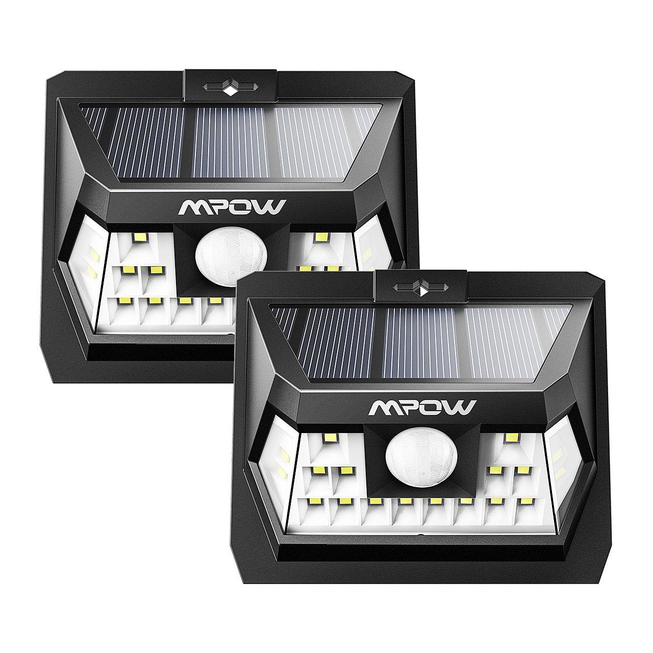 Détecteur Mouvement Solaire Etanche Mpow Lampe 18 Led 120 Jardin De zSUMpqV