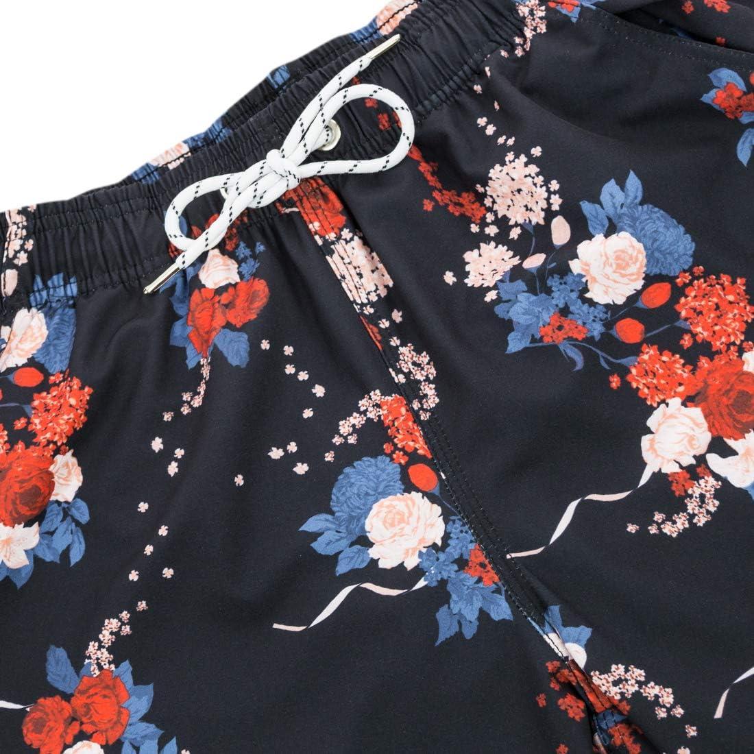 APTRO Mens Swimming Trunks with Pockets Beach Swimwear Quick Dry Elastic Waist Board Shorts
