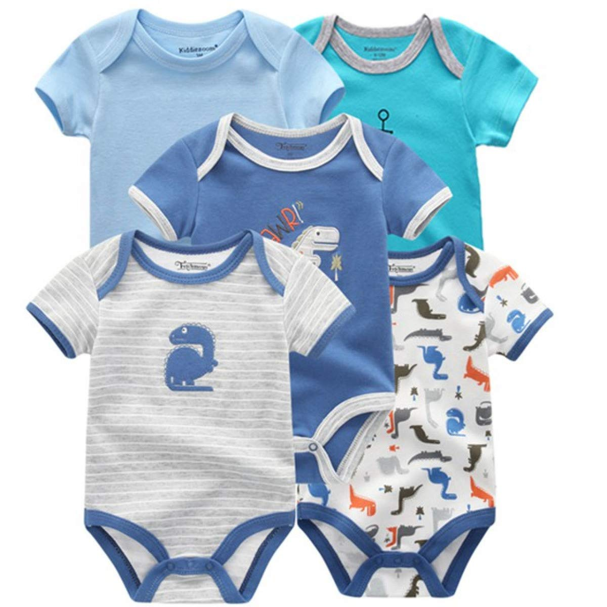 MELLOW SHOP 5PCS//Lot Newborn 100/% Cotton 0-12M Baby Boys Clothes Bodysuits Girls Clothing Baby Girls