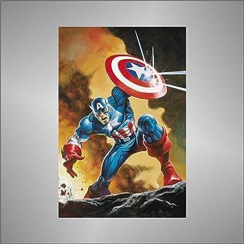 Sticker Capitan Captain America comics cartoon Zeichentrickfilm Aufkleber