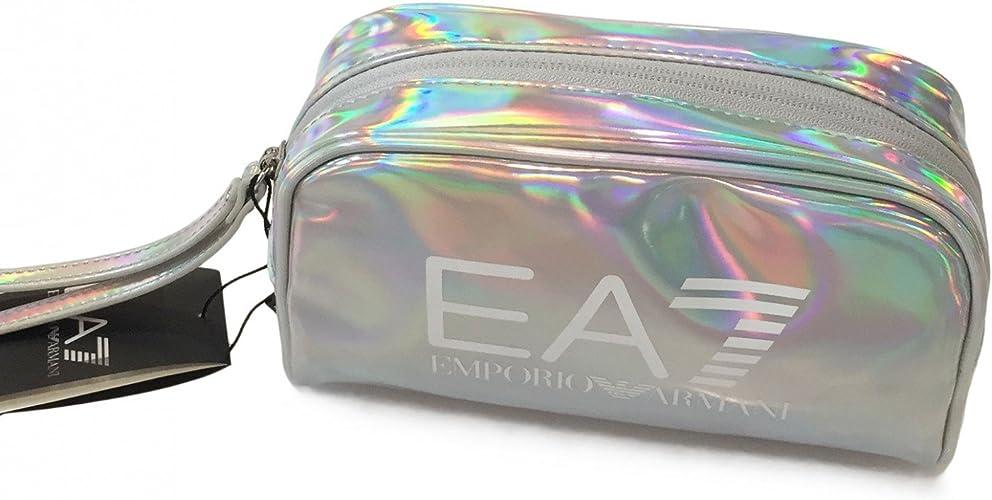 Emporio Armani EA7 neceser estuche de maquillaje mujer nuevo train gym lux plata: Amazon.es: Zapatos y complementos