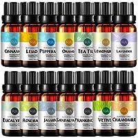 Top 14 100% Pure Therapeutic Grade Essential Oil Set, 10ml - Pack of 14 (Lavender,Peppermint,Eucalyptus,Orange,Tea Tree,Lemongrass,Sandalwood,Chamomile,Jasmine,Rosemary,Frankincense,Vetiver,Lemon,Cinnamon)