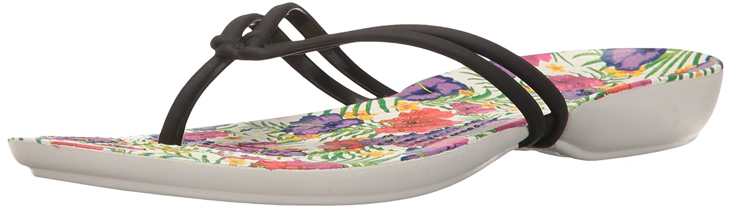 e22dc97b1c13e crocs Women s Isabella Graphic Flip W Black and Floral Flops-W9 (204196-0CV-W9)   Buy Online at Low Prices in India - Amazon.in