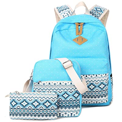 YEFER School Bags for Teenage Girls Set Teens Canvas backpack Womens Casual Daypacks