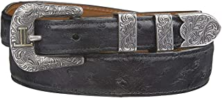 product image for Lucchese Men's Full Quill Ostrich Leather Belt - W6012