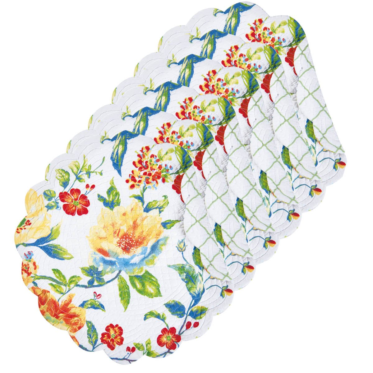 Sabrina Tabletop親 Round Placemat Set of 6 グリーン 862601753S6 Round Placemat Set of 6  B075VNX3F8