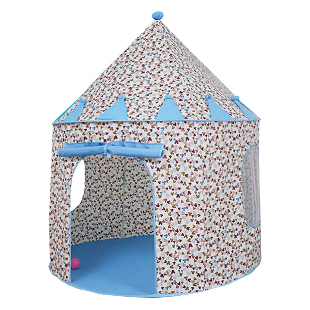 王女のための子供のテントは屋内および屋外の楽しみのための城のテントをポップアップし、キャリーバッグにきちんと折り畳みます blue B07RKWWFH6 105 105*105*130cm*105*130cm blue B07RKWWFH6, ヒラタマチ:35ec5555 --- number-directory.top