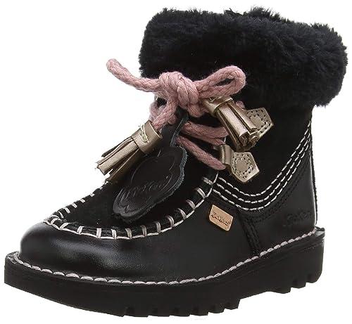 Kickers Fur, Bottes bébé Fille, Noir (Black Blk), 29 EU