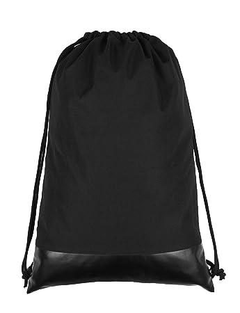 49f0a4f9e02ab Turnbeutel Beutel Rucksack Wasserdicht Gymsack Sportbeutel mit Tasche  Drawstring Bag für Schulsport