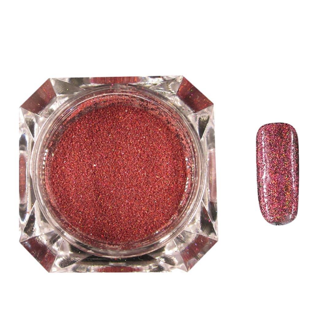 Creazy Optical Chameleon Mirror Powder DIY Dust Nail Art Glitter Chrome Pigment (Hot Pink) CreazyDog®