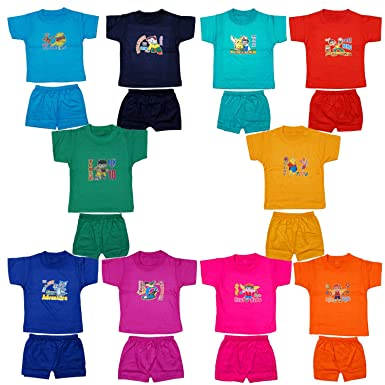 62aa706a857d Fashion Biz Baby Boys Half Sleeve Printed T-Shirts and Shorts Cute ...