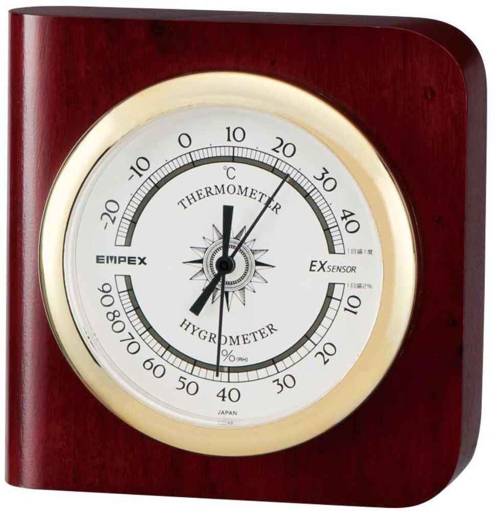 エンペックス気象計温度湿度計ブラウンTM-681