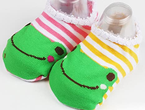 Amazon.com : Happy Cherry 10 Pairs Baby Childrens Socks Slippers Antiskid Random Color : Baby