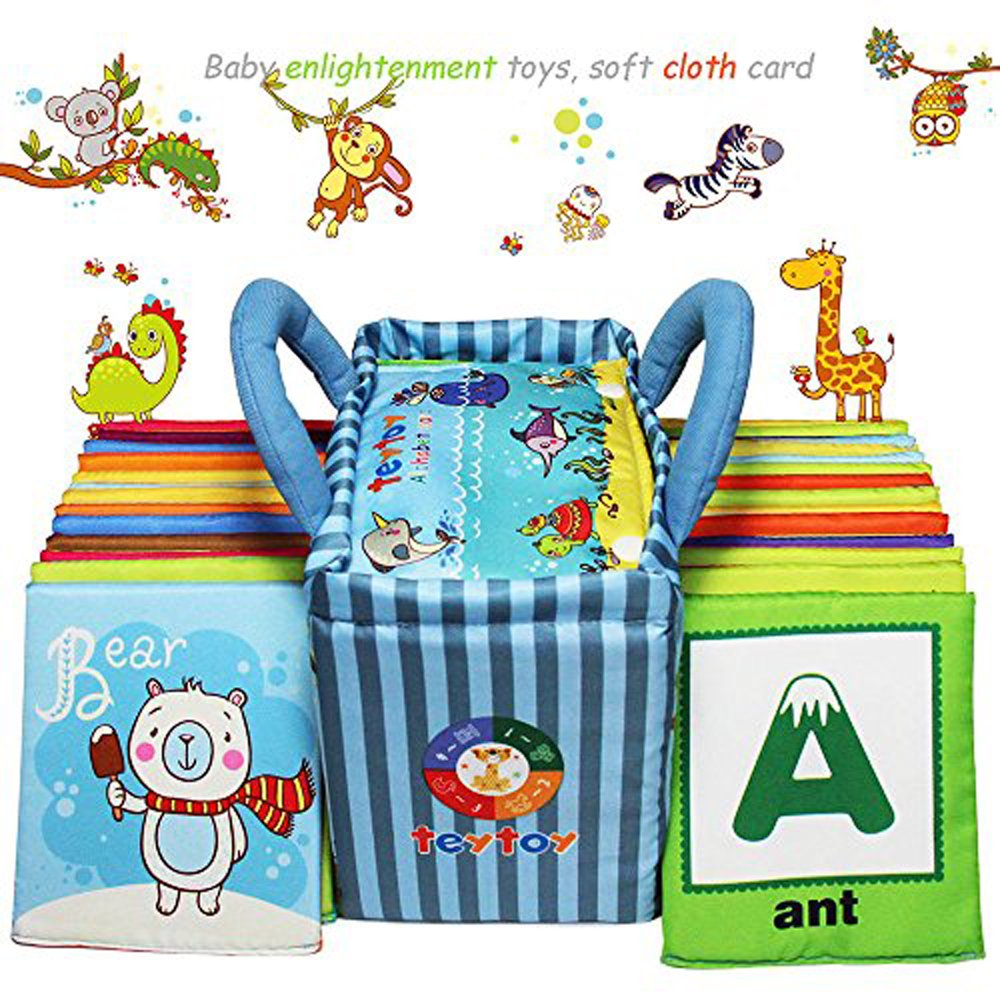 teytoy Baby Toy Zoo Series 26pcs Soft Alphabet Cards with Cloth Bag for Over 0 Years by teytoy (Image #6)