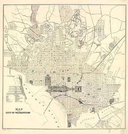 Amazon.com: Vintage 1898 Map of the city of Washington ...