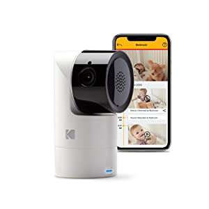 Kodak Cherish C125 Video Baby Monitor, with App and Two Way Talk, Comfort Your Baby, Elderly, Pets and Family from Anywhere, Whether You're Home or Away