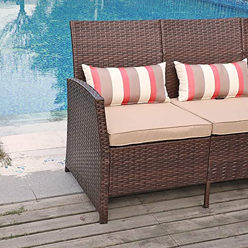 SUNSITT Outdoor Furniture 3 Seats Patio Sofa Couch