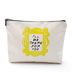 CoolGiftHome Friends Forever [25th Anniversary Ed] Friends TV Show Merchandise Peephole Yellow Frame Cosmetic Bag for Friends Fans