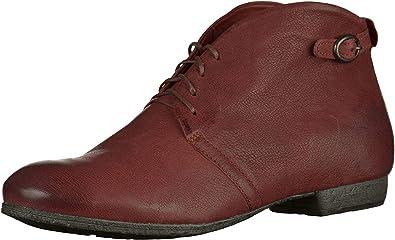 Think! Chaussures Lacets Femme Achat En Cuir Ebbs Rouge