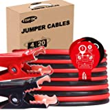 TOPDC Jumper Cables 4 Gauge 20 Feet Heavy Duty Booster Cables with Carry Box (Or Bag) (4AWG x 20Ft)