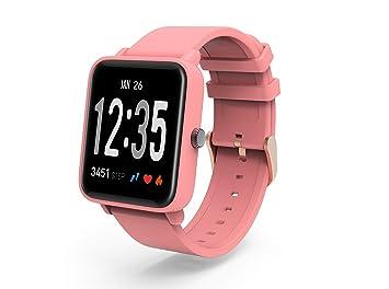 RanGuo Reloj Inteligente para Hombres Mujeres y niños, Deportes al Aire Libre Impermeable IP67 Smart Watch para Sistema Android y iOS (Correa de Silicona, ...