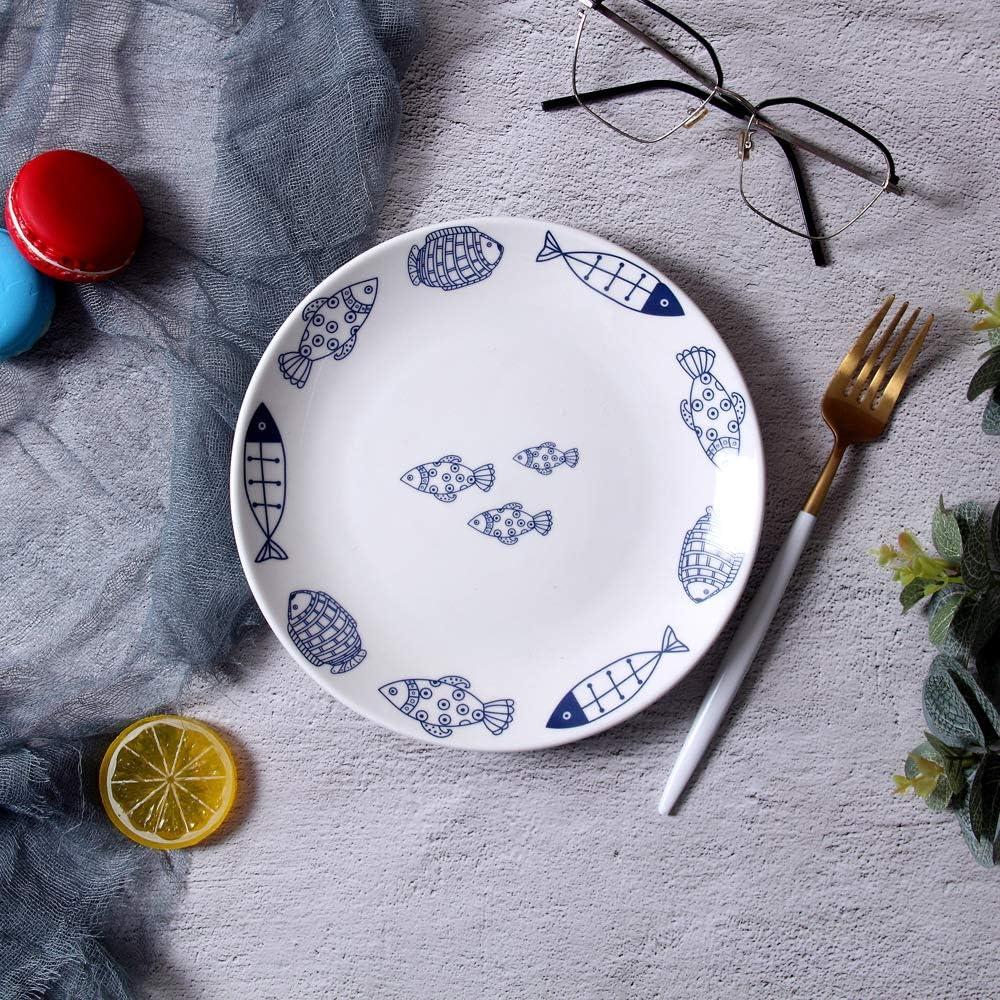 Creativo juego de plato para tartas Nordic Occidental, plato de cerámica, vajilla para restaurante y restaurante 8 pollici Cernia: Amazon.es: Hogar