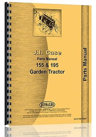 amazon com case 155 195 garden tractor parts manual home improvement rh amazon com Case 150 Garden Tractor Old Case Garden Tractors