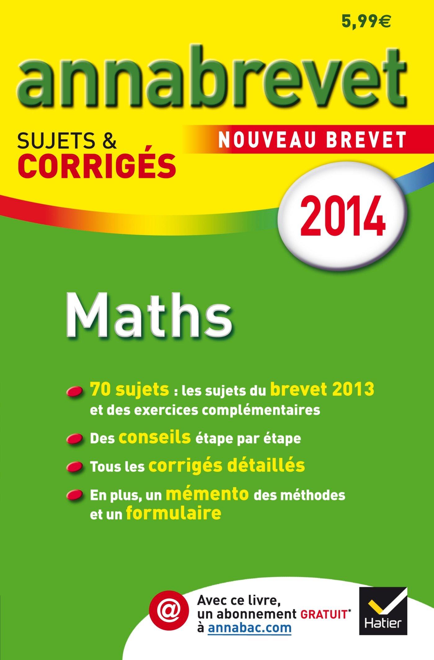 Annales Annabrevet 2014 Maths: sujets et corrigés du brevet - 3e: Amazon.es: Bernard Demeillers: Libros en idiomas extranjeros