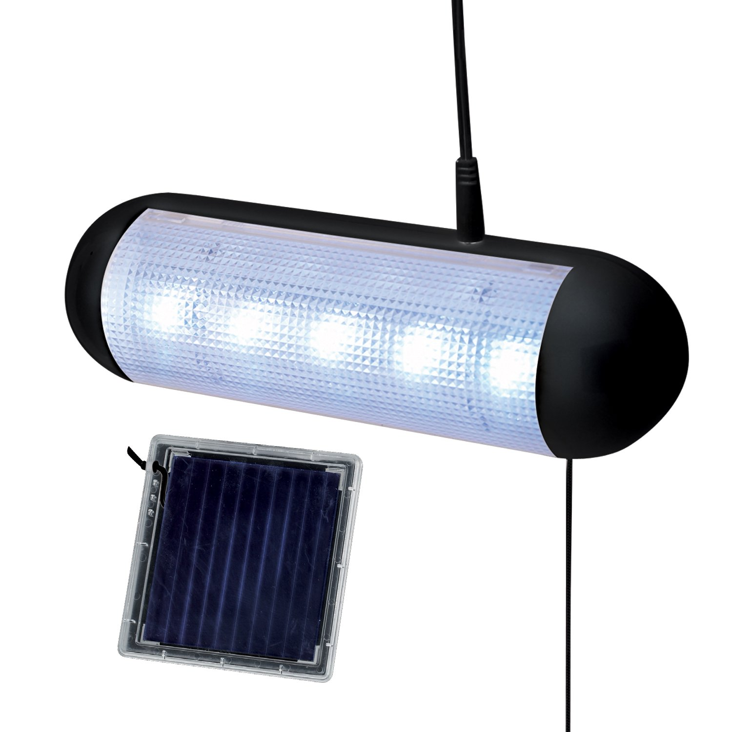 Merveilleux Solalite 5 LED Solar Powered Rechargeable Garage Greenhouse Shed Light:  Amazon.co.uk: Garden U0026 Outdoors