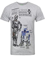 Official Haynes Manual Star Wars C3PO and R2D2 Men's T-Shirt