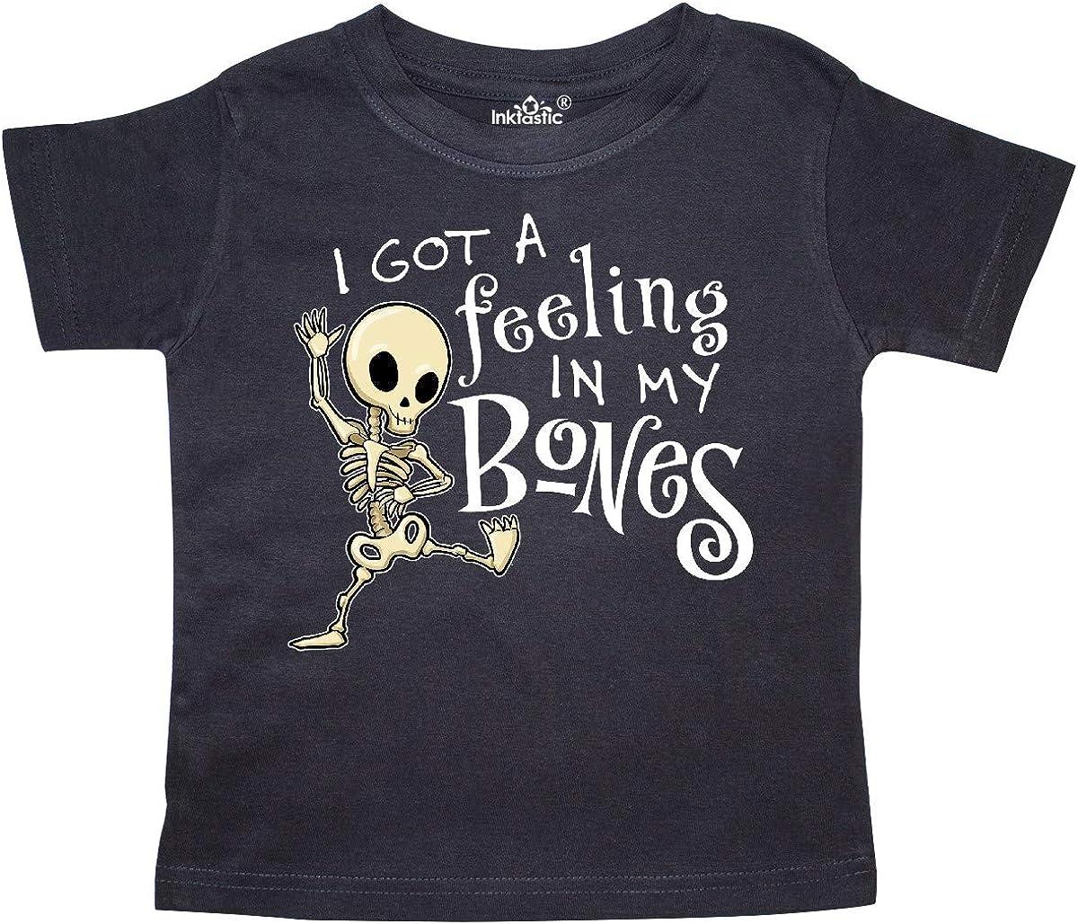 inktastic I Got a Feeling in My Bones with Dancing Skeleton Toddler T-Shirt