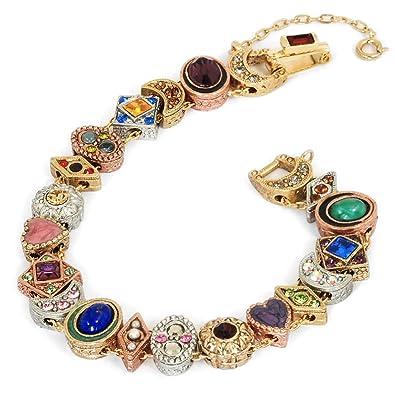 074a0703fb73e Sweet Romance Vintage Gold Silver Copper Victorian Bridal Antique Wedding  Canterbury Slide Bracelet