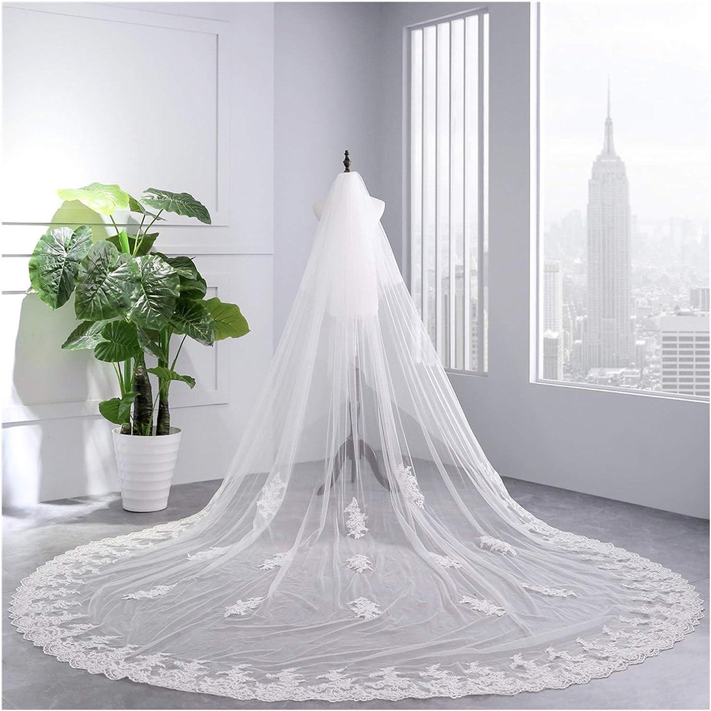 Wedding Veils Long Lace Edge Bridal Veil with Comb Wedding Accessories Bride Veil