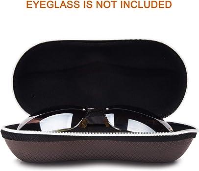 Wasserdichte BrillenetuiEtui Sonnenbrille,Halbhart EVA Zipper Brille Etui