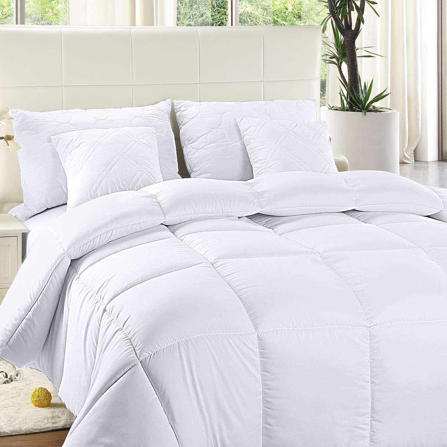 Utopia Bedding Comforter Duvet Insert - Quilted Comforter with Corner Tabs - Box Stitched Down Alternative Comforter (King, White): Home & Kitchen