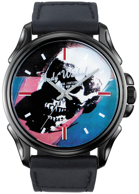 Andy Warhol unisex Are You Different Analoguhr mit schwarzem Lederarmband