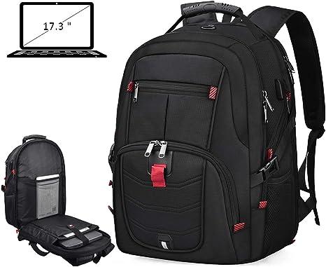 Amazon.com: Mochila para ordenador portátil de 17 pulgadas ...