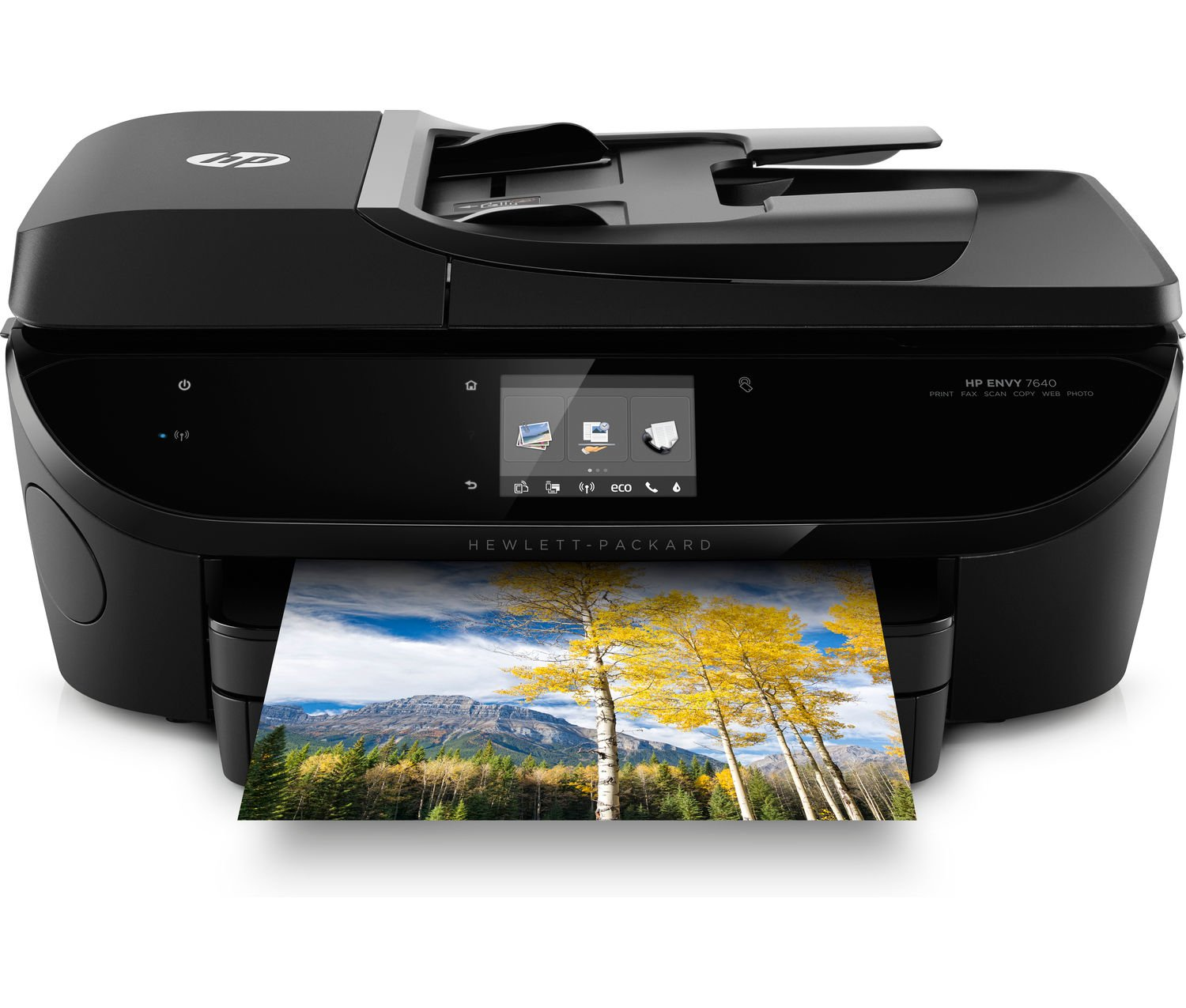 HP ENVY 7644 e-All-in-One Photo Quality Inkjet Printer, wireless printing, mobile phone compatible, in black (Renewed) by HP (Image #1)