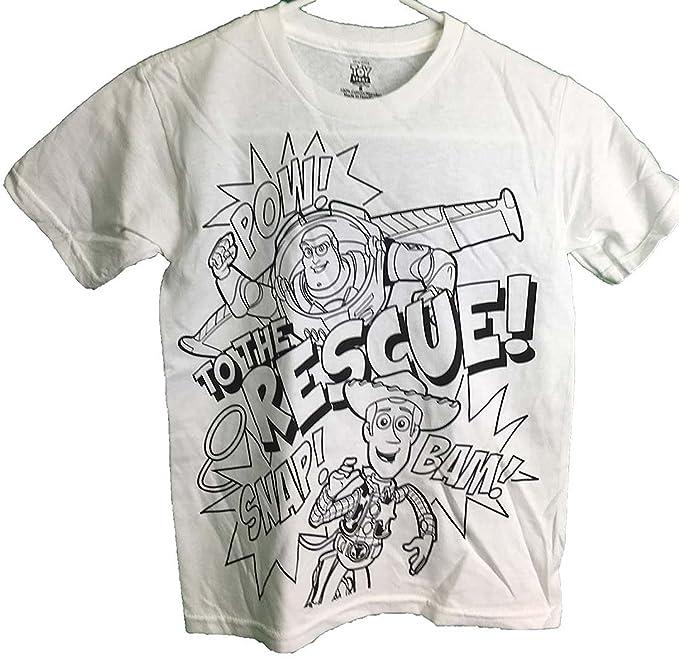 Buzz Lightyear Woody To The Rescue para colorear camiseta juvenil ...