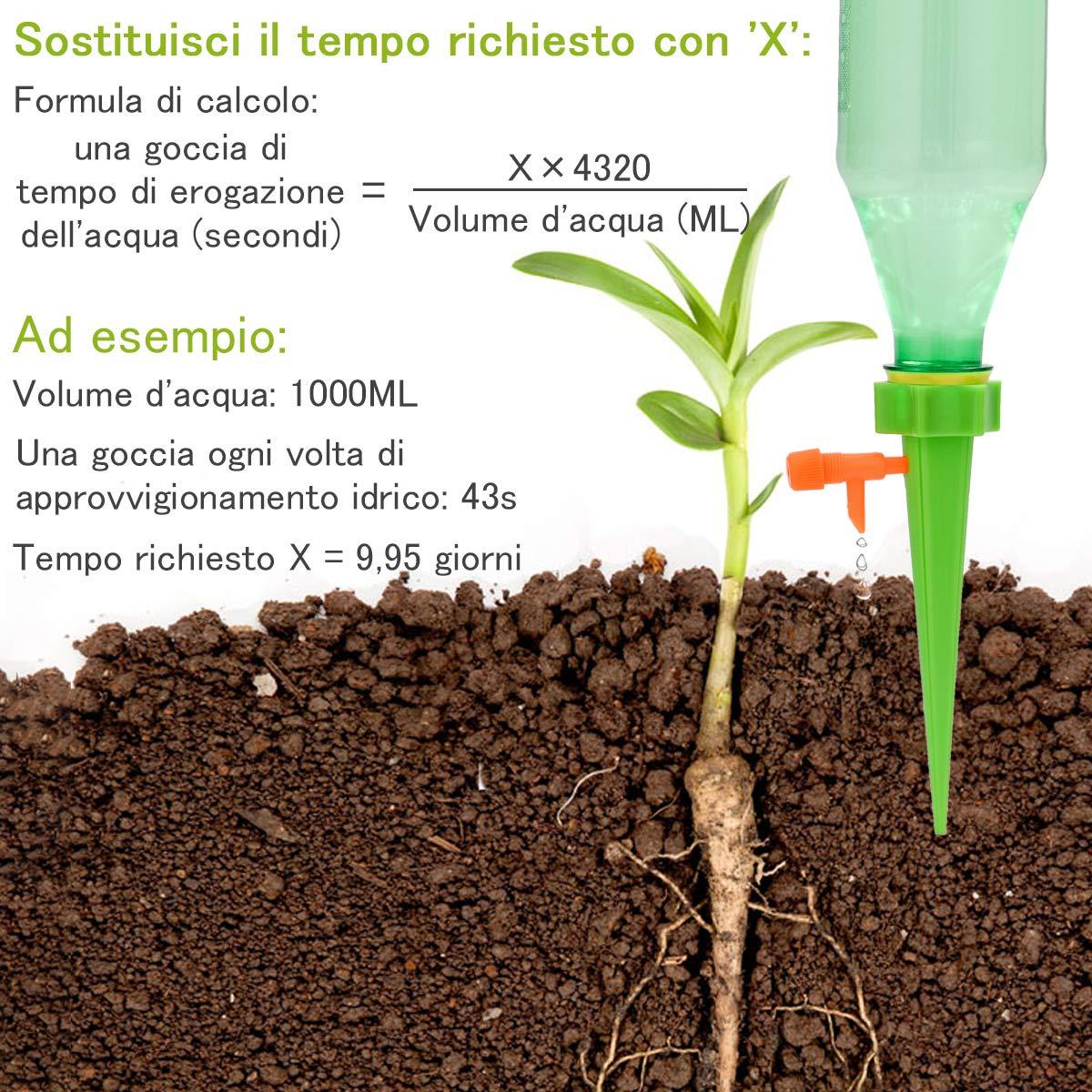 ZITFRI 12PCS Dosificador de Agua de Riego por Gota para Plantas ...