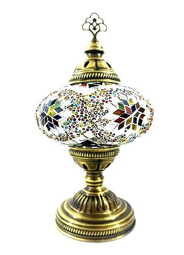 Hecha a mano con motivos orientales Turco Asia mesa mosaico ...