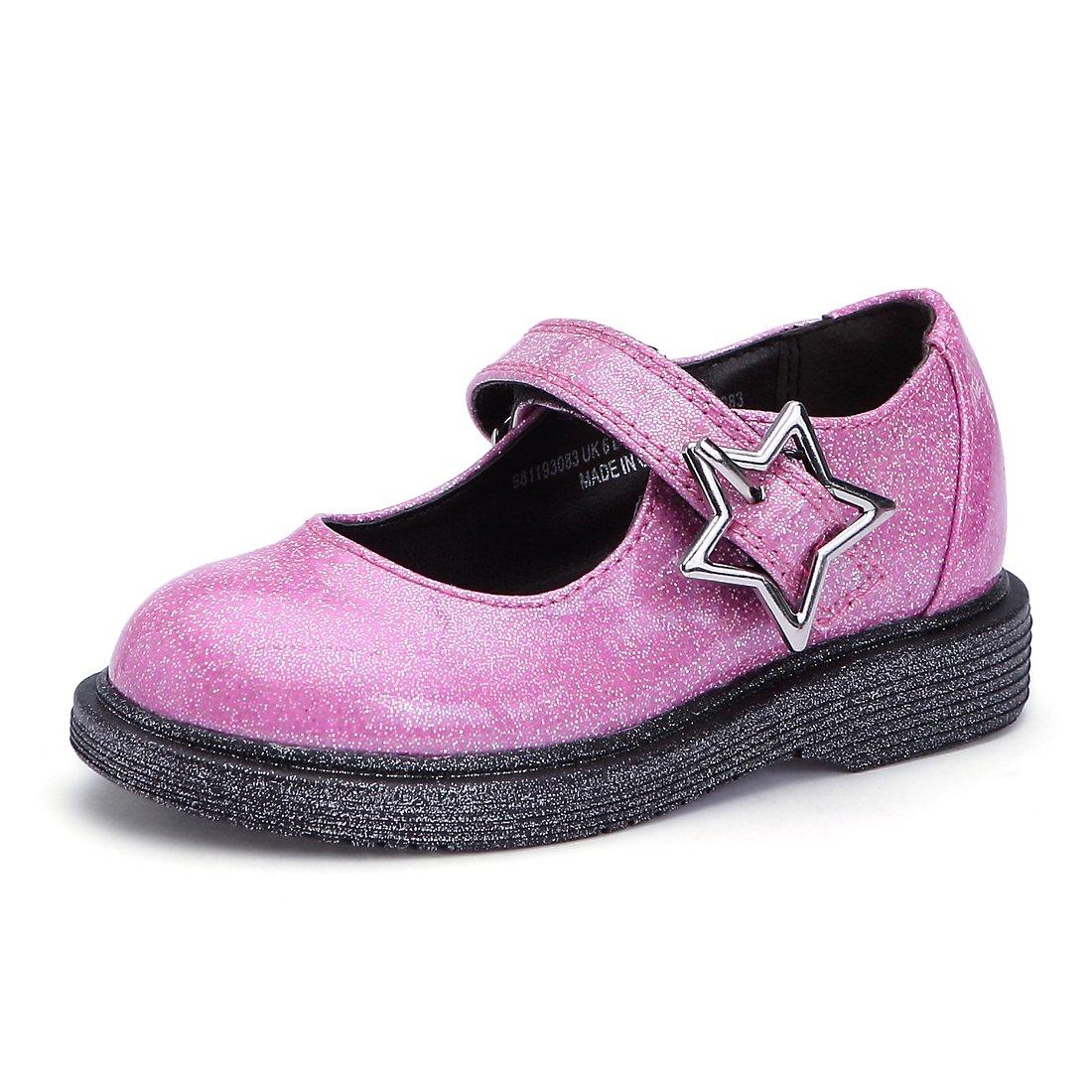 BTDREAM Baby Girl's Glitter Mary Jane Flat Princess Dress Shoes