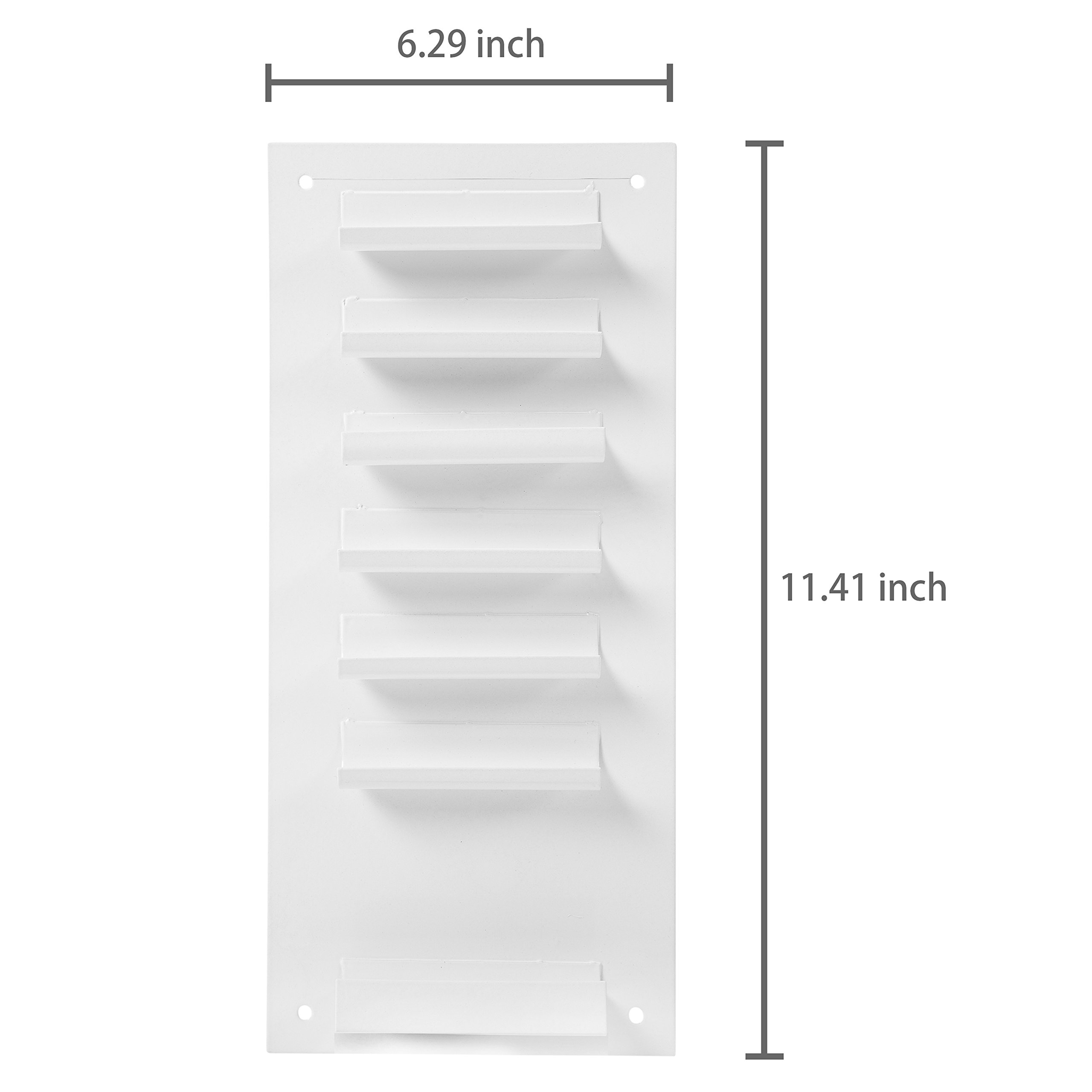 6-Slot Wall Mounted Metal Dry Erase Marker and Eraser Holder/Vertical Storage System, White (Set of 2) by MyGift (Image #5)