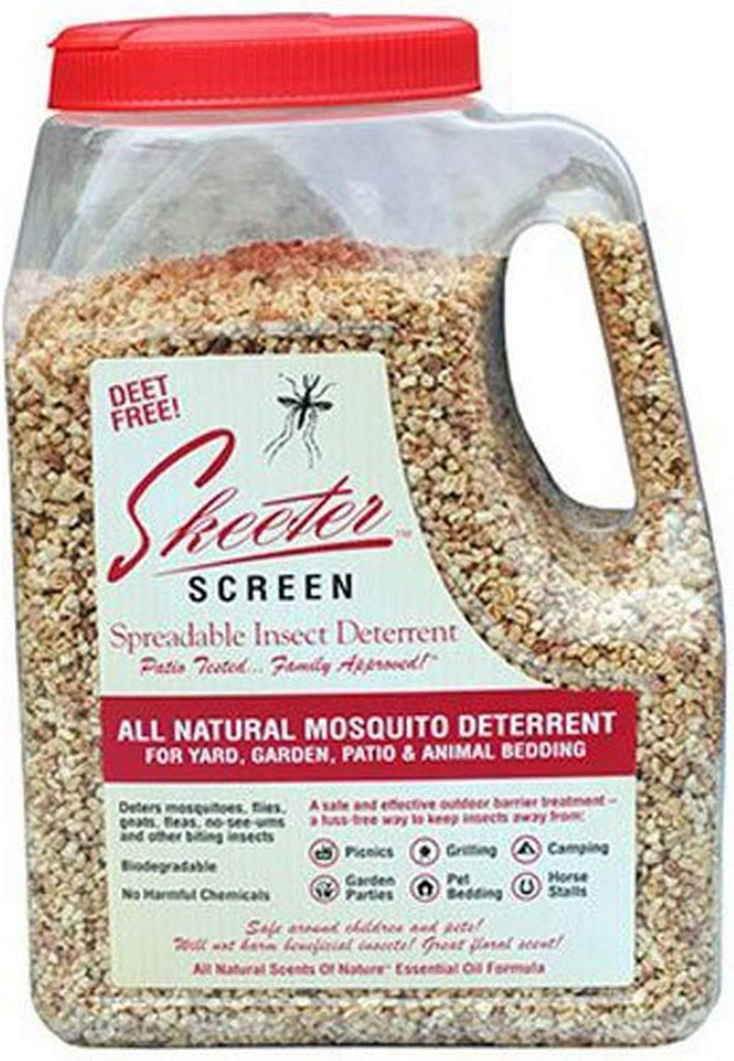 Skeeter Screen 90800 Spreadable Insect Deterrent, 4-Pound