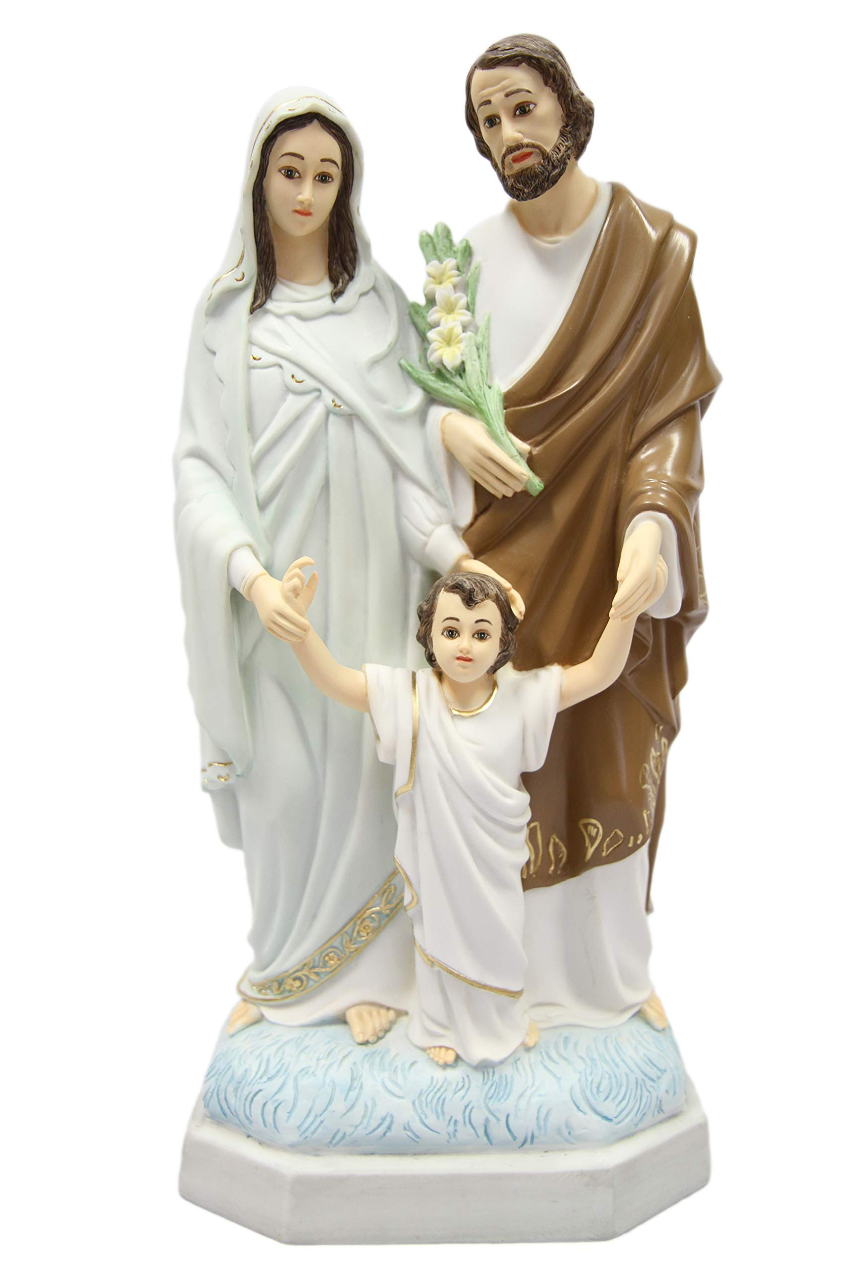 15'' Holy Family Joseph Mary Jesus Catholic Religious Statue Figure By Vittoria Collection Made in Italy
