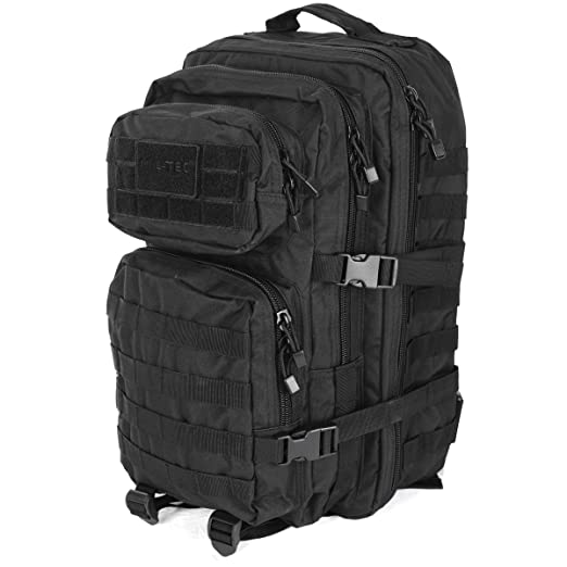 e293bab5f Mil-Tec MOLLE Tactical Assault Backpack - Large 36 Litre (Black):  Amazon.co.uk: Sports & Outdoors
