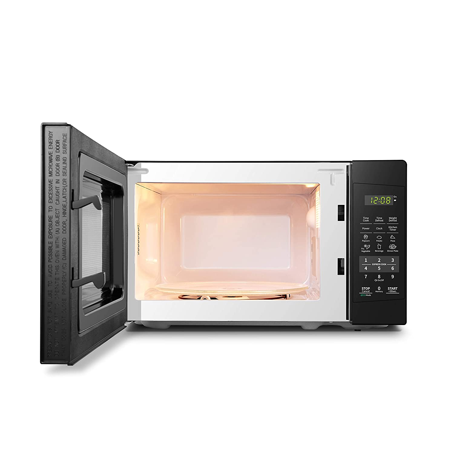 COMFEE EM720CPLPMB Countertop Microwave Oven with Sound OnOff ECO Mode and Easy OneTouch Buttons