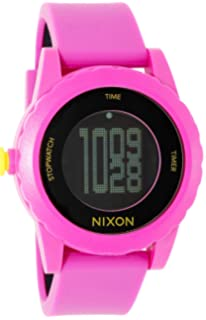 NIXON Womens Quartz Plastic and Silicone Casual Watch, Color:Pink (Model: A326