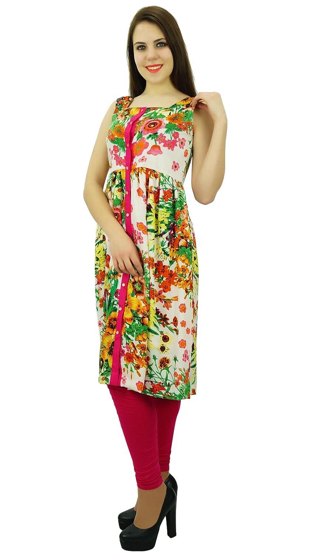 Phagun Polyester Kurti Ethnische Blumendruck Designer Frauen Kurta legeren  Kleidung: Amazon.de: Bekleidung