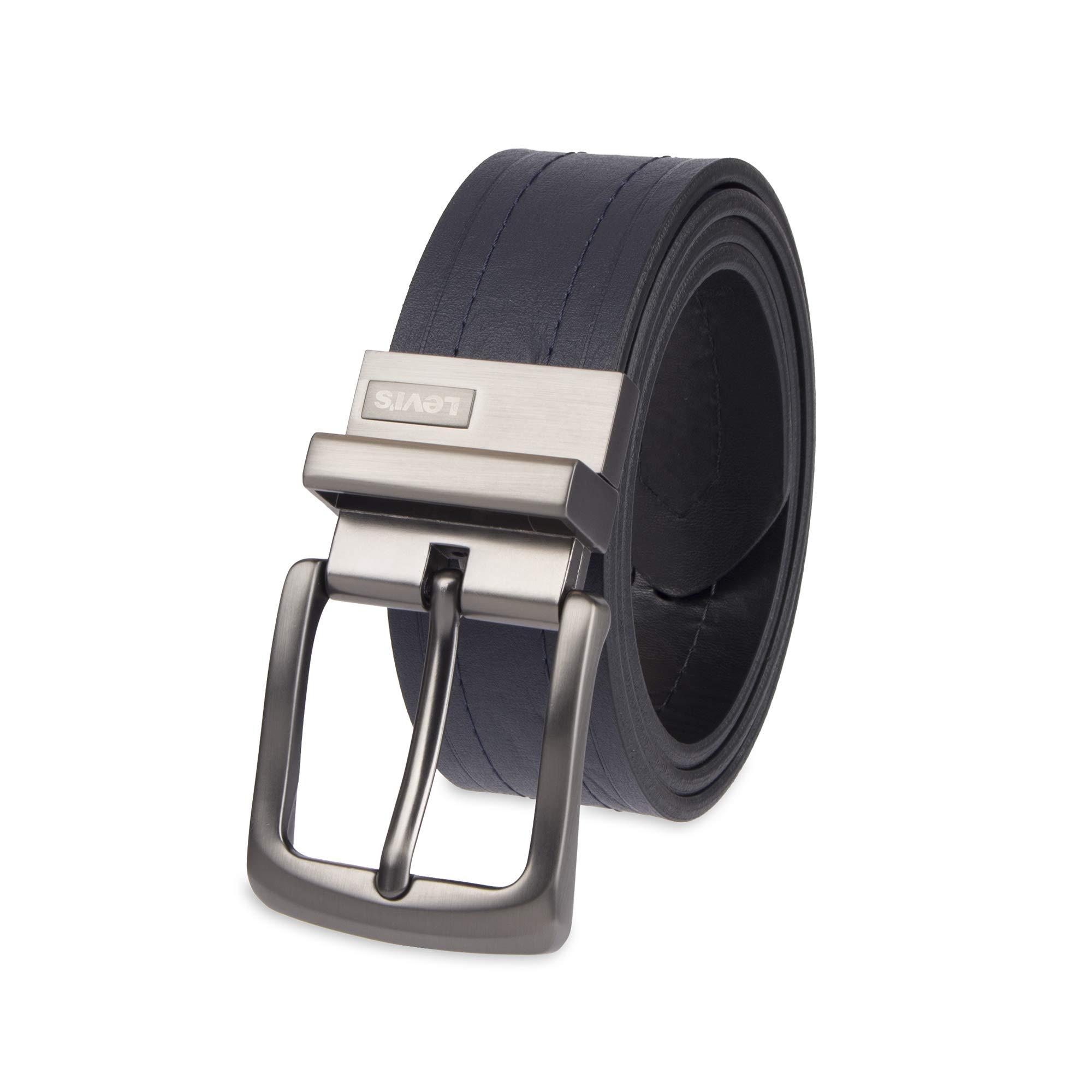 Levi's Men's Reversible Casual Jean Belt, navy/black, 36